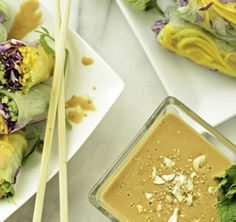 Half the calories of regular peanut sauce, but absolutely all the flavor! Simple, delicious and versatile, use as a dipping sauce for spring rolls or veggies or as a dressing for Asian inspired salads. Only 19 calories and 1 gram of carbs per tablespoon, one tablespoon is so flavorful it