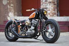 A very classy 1951 Harley-Davidson Panhead custom. It's the work of Thunderbike, the German company that won the 2012 AMD World Championship of bike building.