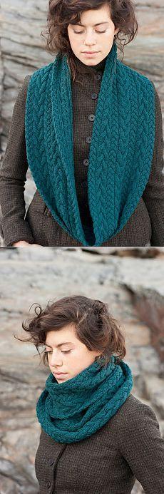 Снуд из кос. Идея для вязания | Шкатулочка для рукодельниц