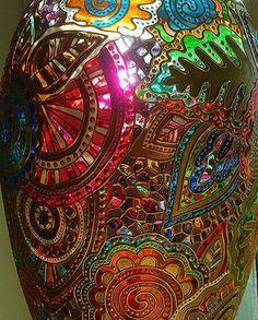 Fabric Birds, Presents, Glass, Crafts, Painting, Remedies, Decor Ideas, Mirrors, Mandalas