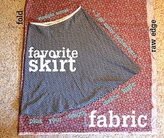 The Missus Smarty Pants Blog: No Pattern Skirt!