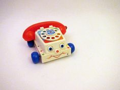 Vintage Fisher Price Chatter Telephone Rotary Dial Phone Vintage 80s Toys 1985 747. $10.00, via Etsy.