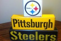 homemade pittsburgh steeler wooden signs - Google Search