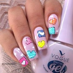 Feel good about yourself and spread some love with your favorite heart nail art among these adorable heart nail designs ideas. Here, check some of them! Heart Nail Designs, Nail Polish Designs, Cute Nail Designs, Stylish Nails, Trendy Nails, Work Nails, Sexy Nails, Heart Nails, Cute Nail Art