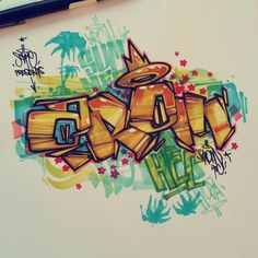Discover recipes, home ideas, style inspiration and other ideas to try. Graffiti Sketch, Graffiti Piece, Graffiti Pictures, Graffiti Cartoons, Graffiti Wall Art, Graffiti Tagging, Graffiti Drawing, Graffiti Styles, Graffiti Alphabet