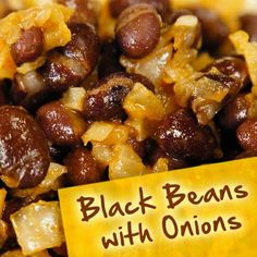 Hispanic Diabetes Recipes: Black Beans with Onions Diabetic Menu, Diabetic Recipes, Low Carb Recipes, Diet Recipes, Cooking Recipes, Diabetic Foods, Cooking Games, Bean Recipes, Veggie Recipes