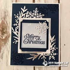 VIDEO: 2019 Stampin Up Holiday Catalog kick off and over 70 ideas - Episode 85 Stampin Up Christmas, Christmas Cards To Make, Xmas Cards, Handmade Christmas, Holiday Cards, Christmas Tag, Christmas 2019, Silver Christmas, Tarjetas Stampin Up