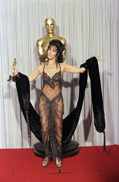 """Cher wore her famous Bob Mackie ensemble in 1988 when she won for """"Moonstruck."""""""