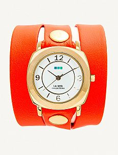 I'm not a watch wearer but I dig these from La Mer...they would mix perfectly with my leather cuffs and beads