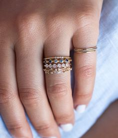 rose rings audry worrystone stacking ring