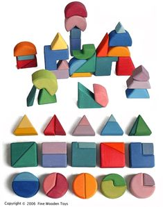 grimm's spiel & holz design building wooden blocks/puzzles. made in germany.