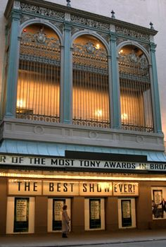 The St. James Theatre is located on the south side of 44th Street west of Broadway between 8th Avenue and Broadway. The interior design is Georgian as well as the outside façade which was grey stucco.