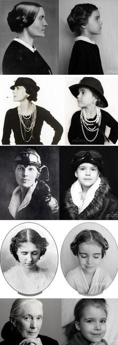 Instead Of A Disney Princess: Susan B. Anthony, Coco Chanel, Amelia Earhart, Helen Keller, Jane Goodall.