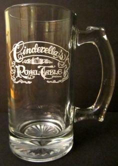 Walt Disney World CINDERELLA'S ROYAL TABLE Drinking Root Beer Mug Glass Souvenir #crt #wdw