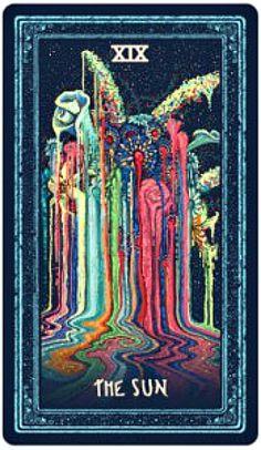 The Sun: Prisma Visions Tarot.