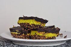 RAW: Zdravé mint-chocolate cream řezy