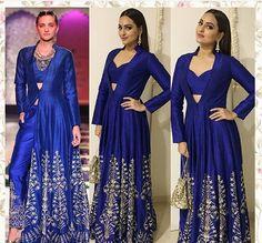 Anita dongre # Sonakshi Sinha # indo fusion wear # hand crafted # Bollywood fashion