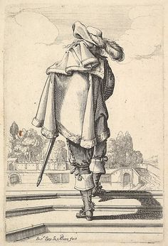 """1629 etching from """"Le Jardin de la Noblesse Française..."""" by Abraham Bosse (French, Tours 1602–1676 Paris) I Metropolitan Museum of Art"""