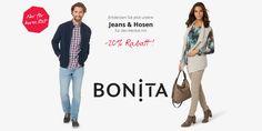 20 % Rabatt auf Hosen und Jeans bei BONITA