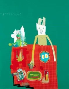 "Saatchi Online Artist: Woo, Kukwon; Oil, Painting ""Breakfast with Kermit"""