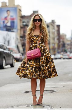 Cara McLeay in Asos floral dress #NYC #StreetStyle