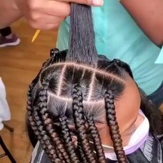 Lil Girl Hairstyles, Box Braids Hairstyles For Black Women, Braids Hairstyles Pictures, Twist Braid Hairstyles, Braids For Black Hair, African Braids Hairstyles, Protective Hairstyles, 4 Braids Hairstyle, Braids For Black Kids