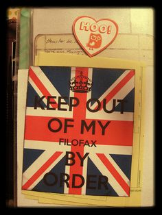 Keep out of my Filofax by ideabook.se, via Flickr