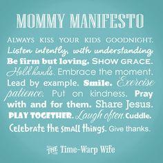 2 Free Printables: Mommy Manifesto and Marriage Manifesto