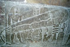 Dendera Wall Carving: Wall carvings at the Dendera Temple complex in Egypt depict bulb-like objects that Egyptologists believe to be lotus flowers. According to others, including some ancient alien theorists, the carvings suggest that ancient Egyptians used electric lighting to illuminate their tombs.