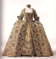 Chani Et Binou: Women Fashion through the 18th century - Robe à la française- French Dress (end of the 1770)