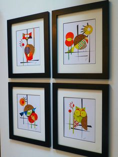 Original Vintage Bird Art Mid Century Design by COLBYandFRIENDS