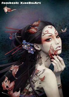 Asian girl fantasy art