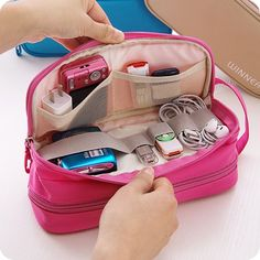 Hanging Travel Storage Bag Digital AccessoriesWaterproof Nylon Bag for Women Men