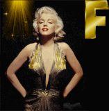 Marilyn Monroe letter F alphabet gif animated