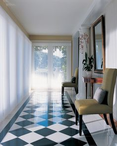 Transform any space into a remarkable space with the use of light and Luminette® Privacy Sheers. ♦ Hunter Douglas window treatments  #Hallway