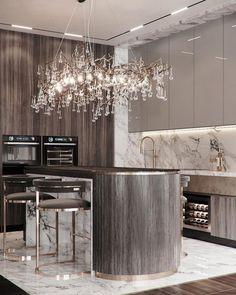 Luxury Kitchen Design, Kitchen Room Design, Best Kitchen Designs, Luxury Kitchens, Home Decor Kitchen, Modern Interior Design, Interior Design Inspiration, Interior Design Living Room, Cuisines Design