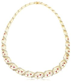 18k Yellow Gold Plated Sterling Silver Ruby and « Holiday Adds
