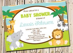 Safari Baby Shower Invitation PRINTABLE by perfectcelebrations, $8.50
