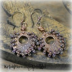 Copper Party Time  Earrings by KristiBowmanDesign on Etsy, $34.00