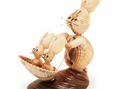 coquillage-dessin-maman-lapin-et-ses-petits-enfants-balade-joie