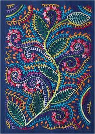 Crewel Embroidery Patterns hand embroidery - Look at all that lovely blanket stitch, my favorite! Crewel Embroidery, Embroidery Applique, Cross Stitch Embroidery, Embroidery Patterns, Machine Embroidery, Floral Embroidery, Indian Embroidery, Japanese Embroidery, Hand Embroidery Stitches