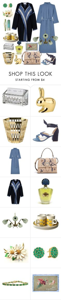 """To My Valentine"" by tinakriss ❤ liked on Polyvore featuring Waterford, Ghidini 1961, Alexandre Birman, Cefinn, Henri Bendel, Chloé and Guerlain"