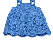 Baby Scalloped Jumper Knitting Pattern - 0 to 3 Months - PDF