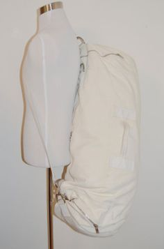 VINTAGE-HELMUT-LANG-MENS-90s-WHITE-XTRA-LARGE-COTTON-SAILOR-BAG