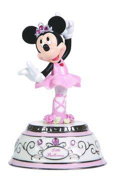 "Amazon.com: Precious Moments, Disney Showcase Collection, ""Little Ballerina"", Minnie Mouse, Rotating, Porcelain/Resin Music Box, #124108: Home & Kitchen"