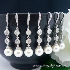 15 OFF SET of 6 Wedding Jewelry Bridesmaid Gift by SweetMelodyShop, $162.69