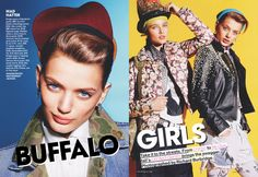 "Richard Burbridge photographed ""Buffalo Girls"" for Teen Vogue August 2012 with hair by Diego Da Silva."