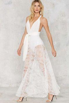 Voltage Multi Wear Maxi Dress - White Lace - Valentine's Day | Best Sellers | Midi + Maxi | LWD