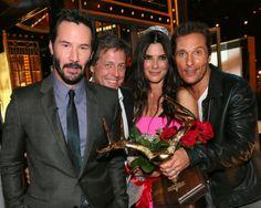 "Keanu Reeves, Hugh Grant, Sandra Bullock and Matthew McConaughey attends Spike TV's ""Guys Choice 2014."