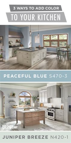 You can design the home of your dreams with a little help from these 3 ways to add color to your kitchen. BEHR Paint colors like Peaceful Blue and Juniper Breeze help to create a bright, airy style. Try pairing these modern shades with a neutral color palette to draw more natural light into your home. Check out the rest of this article to learn more.